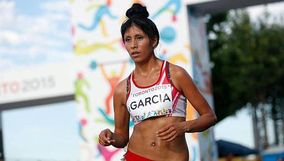 Kimberly García llegó en el puesto 14 a la meta de la marcha femenina en Río 2016. (Andina)