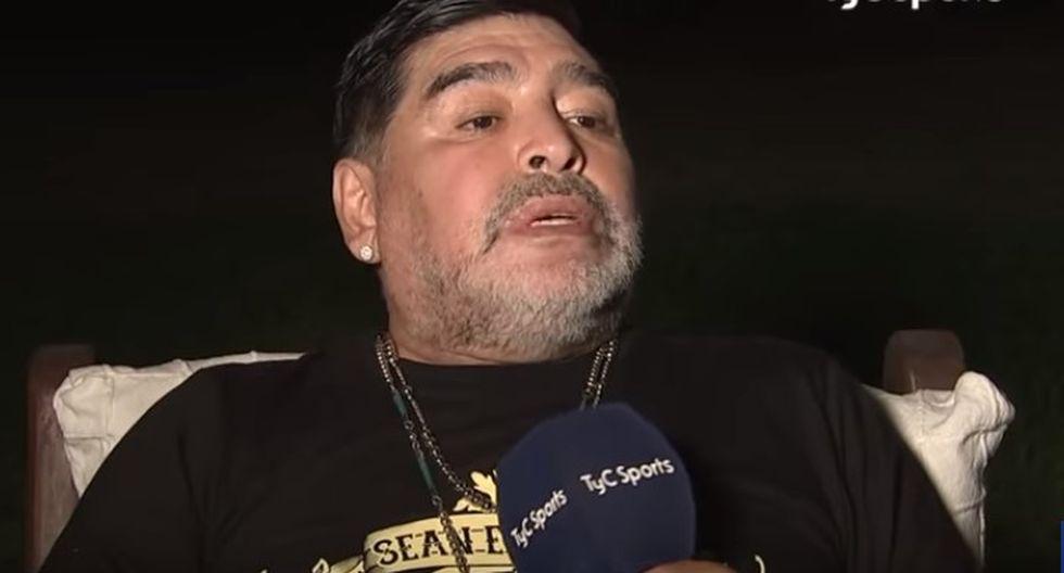 Maradona se animó a darles un consejo a los jóvenes acerca de la prevención del uso de drogas. (TYC)