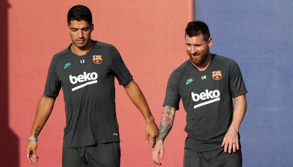 Luis Suárez comentó una imagen de Lionel Messi antes de cruzarse en LaLiga. (Foto: Reuters)