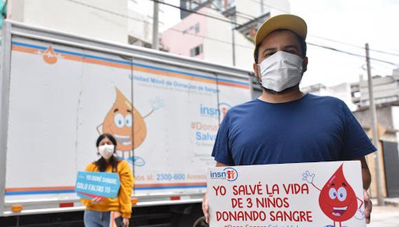 Más de 1200 personas donaron sangre frente a sus casas a través del 'Dona Móvil' del Instituto Nacional de Salud del Niño (INSN) de San Borja. (INSN)