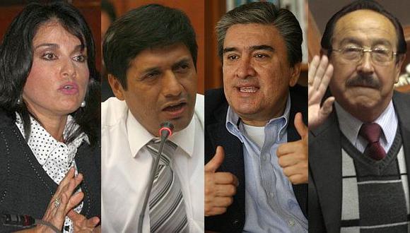 Los cuestionados Pilar Freitas, Cayo Galindo, Rolando Sousa y Víctor Mayorga. (Perú21)