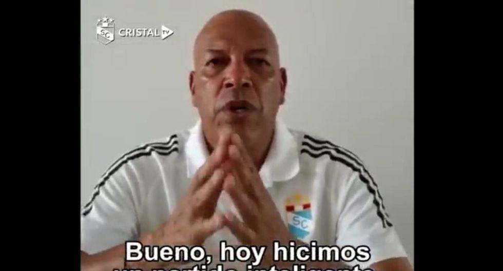 Roberto Mosquera tras el partido ante Alianza Lima. (Prensa SC)