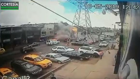 Colombia: Cuatro muertos y 15 heridos por explosión en fábrica en Bogotá. (Foto: Captura de video)