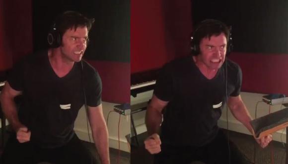 Hugh Jackman publicó un video donde se observa el proceso de grabación de audio de una pelea violenta.