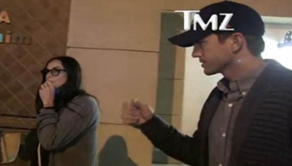 Demi Moore y Ashton Kutcher en el momento del ampay. (TMZ)