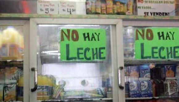 Escasez de leche se agudiza y afecta al 70% de los negocios en Venezuela.(Internet)