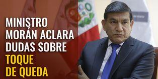"""Ministro Carlos Morán: """"En estado de emergencia, una persona puede ser detenida sin mandato de un juez"""""""