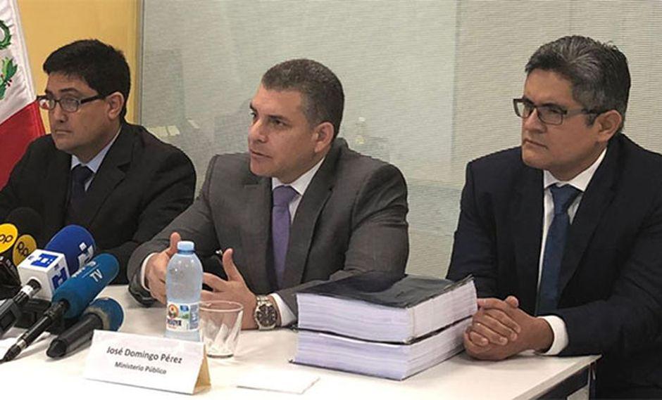 El equipo especial del caso Lava Jato del Ministerio Público, representado por el fiscal José Domingo Pérez y el fiscal superior Rafael Vela, suscribió el acuerdo con Odebrecht. (Foto: GEC / Video: TV Perú)
