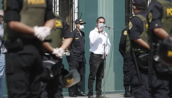 Ministro del Interior, Gastón Rodríguez, informó que 11 miembros de la Policía han fallecido por COVID-19 hasta la fecha. (Foto: César Campos/GEC]