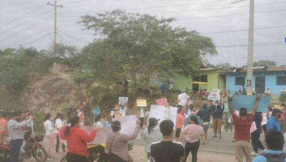 Piura: distrito de Las Lomas bloquea vías por obra paralizada hace ocho años (Foto: Facebook | Tv Cable Huarmaca)