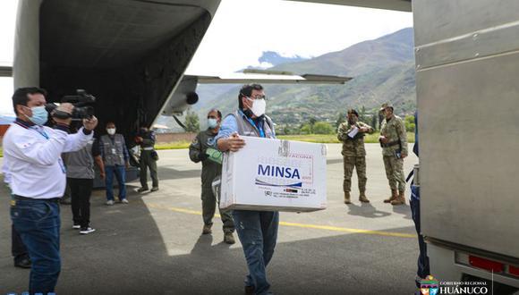 Huánuco: región recibió más de 2 mil vacunas contra el COVID-19 (Foto: Gore Huánuco)