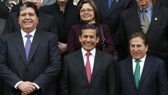 A Ollanta Humala, Alan García y Alejandro Toledo sonríen con la posibilidad de no responder ante la justicia por sus actos. (Perú21)