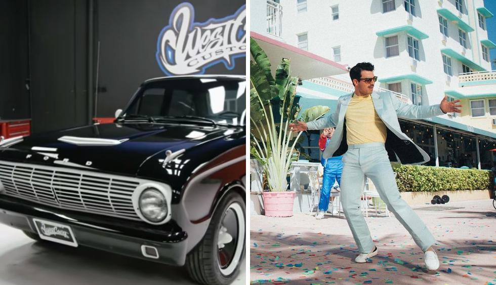 El cantante ha mostrado su preferencia por vehículos antiguos y elegantes. (Foto: Captura de pantalla / @joejonas)