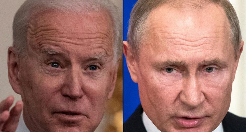 Imagen de Joe Biden y Vladimir Putin. (Fotos: Eric BARADAT y Pavel Golovkin/ AFP).