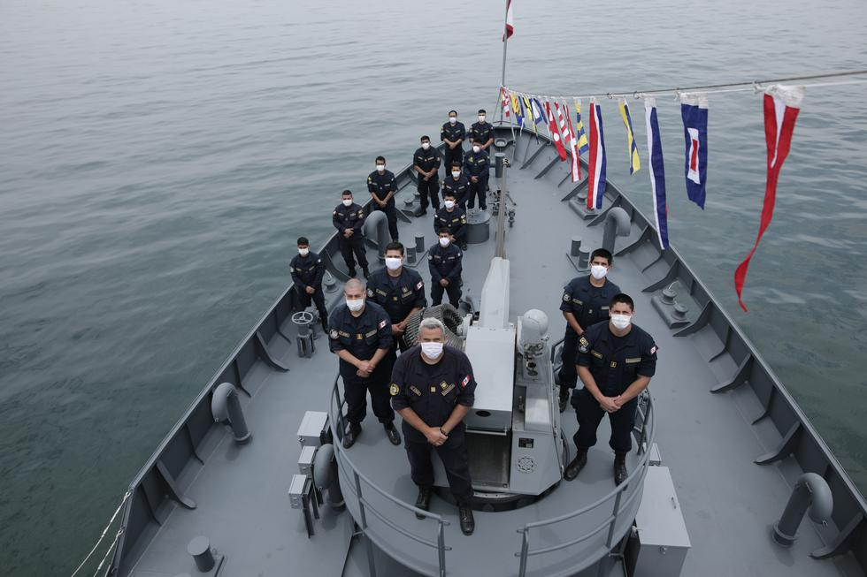 Parte de la tripulación del BAP Río Cañete. (Anthony NIño de Guzmán)