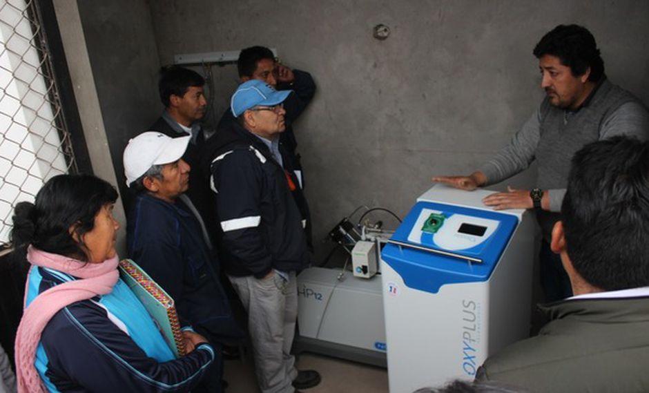 Siete nosocomios fueron beneficiados con estos equipos generadores de oxígeno. (Foto: Minsa)