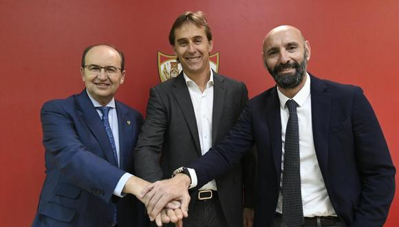 Julen Lopetegui se convirtió en entrenador del Sevilla. (Foto: @SevillaFC)