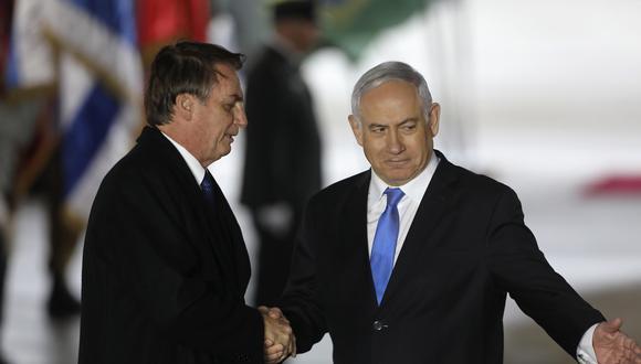 Jair Bolsonaro, presidente de Brasil, con el primer ministro israelí, Benjamin Netanyahu. (Foto: EFE)