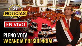 Pleno vota moción de vacancia presidencial