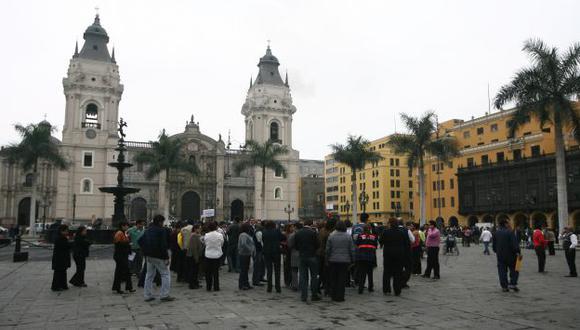 CON RESPONSABILIDAD. Muchas personas participaron activamente en el último simulacro de sismo. (Mario Zapata)