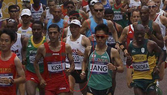 Pacheco fue uno de los 88 atletas que llegó a la meta, mientras que 17 la abandonaron. (Reuters)