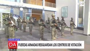 Fuerzas armadas listos para resguardar centros de votación este domingo 11 de abril