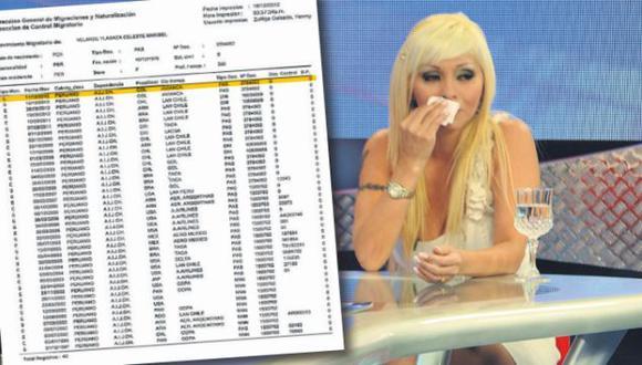 MAFIA DE LAVADO. Maribel Velarde fue llevada la mañana de ayer al Octavo Juzgado del Callao. (Difusión)