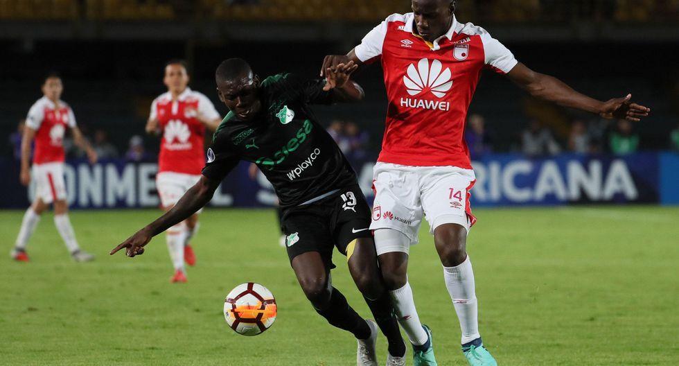 Santa Fe igualó 1-1 ante Deportivo Cali por la Copa Sudamericana. (EFE)
