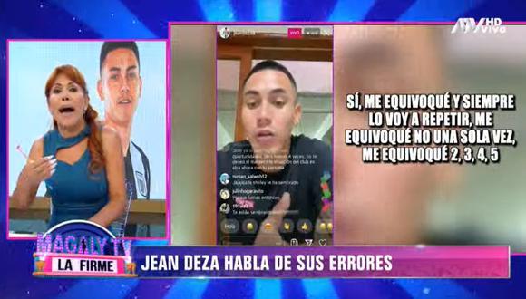Magaly Medina critica supuesto arrepentimiento de Jean Deza. (Foto: Captura Magaly TV La Firme)