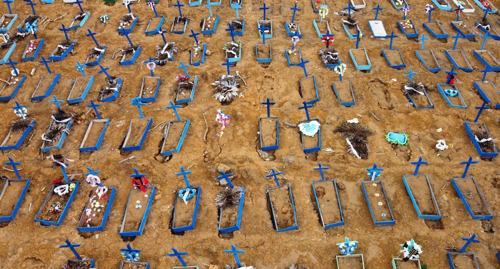 Brasil registró este martes más de mil muertes de COVID-19. (Foto: MICHAEL DANTAS / AFP).
