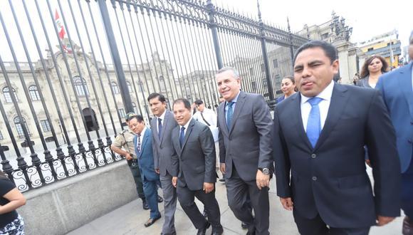 La bancada de Podemos Perú votó a favor de la reforma constitucional en la primera votación del 5 de julio pasado (GEC).