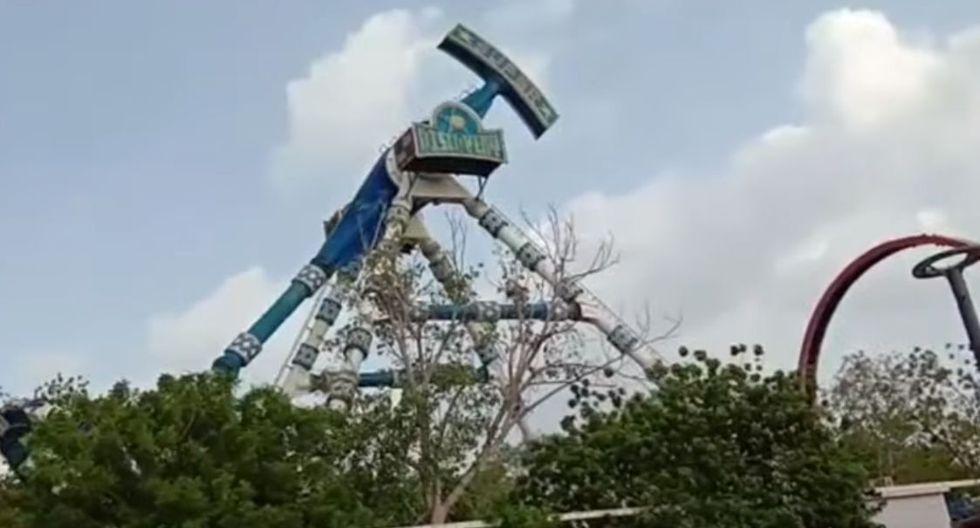 India: Escalofriante accidente en juego mecánico dejó 3 personas muertas y 28 heridos graves. (YouTube)