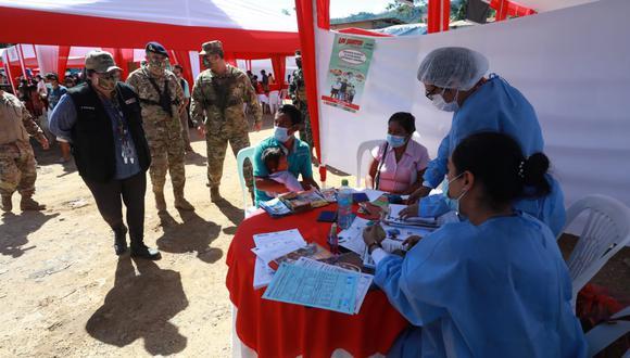 El Ministerio de Defensa organizó una jornada cívica de cuatro días para atender a los pobladores de San Miguel del Ene en diversas especialidades médicas. (Foto: Ministerio de Defensa)