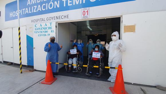 Ambas mujeres estuvieron internadas por más de 7 días en el hospital Goyeneche (Foto: GERESA)