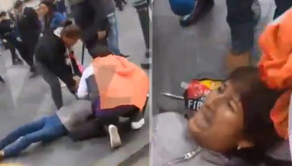 Trabajadora de Limpieza denuncia haber sido agredida por la Policía. (Video: ATV+)