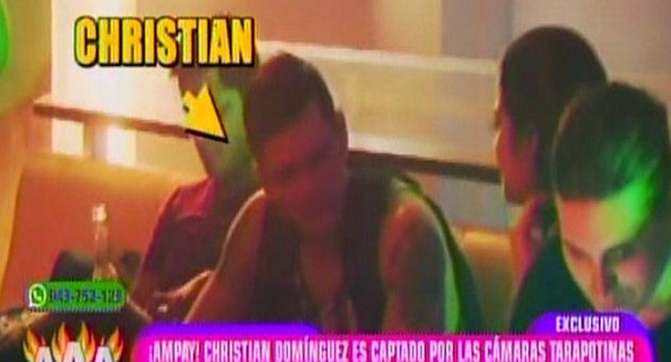 Christian Domínguez fue 'ampayado' muy cariñoso con Miss Tarapoto. (Latina)