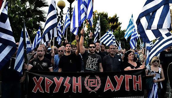 Amanecer Dorado de Grecia es uno de los dos partidos que tendrá diputados en el Parlamento Europeo. (AFP)