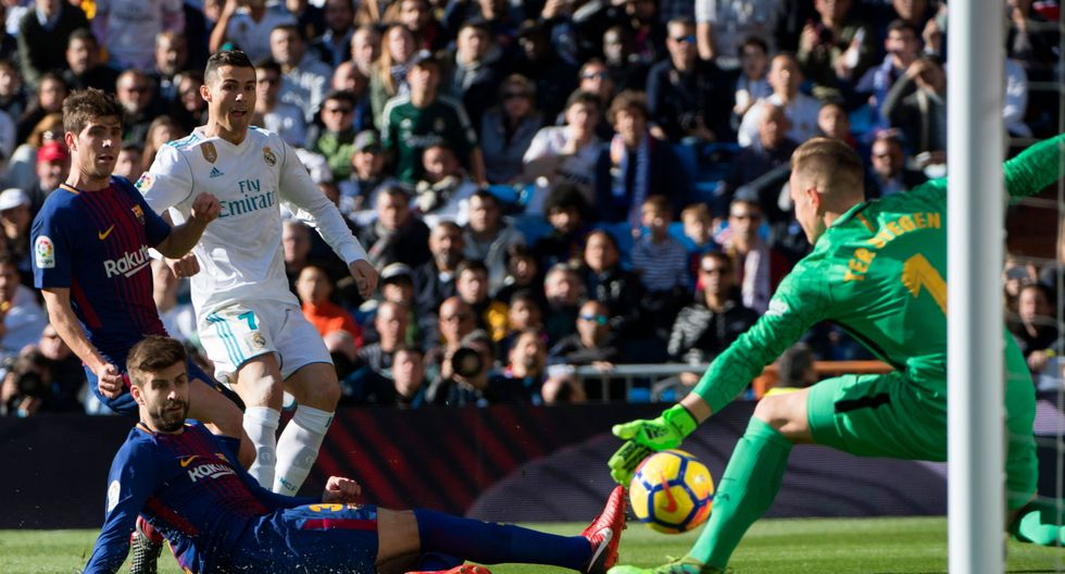 Este es el error de Cristiano Ronaldo que lo dejó en ridículo frente al Barcelona. (AFP)