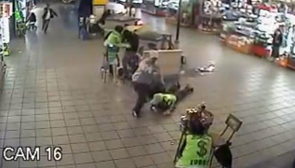 Asalto a cambistas en Polvos Azules duró solo 30 segundos. (Captura de YouTube)
