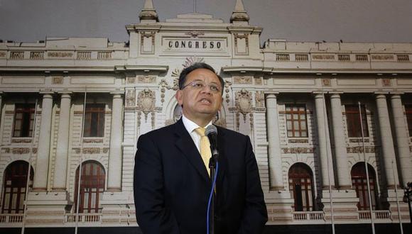 La denuncia contra Alarcón por el presunto delito de tráfico de influencias fue aprobada con por mayoría, 22 votos a favor y 5 abstenciones, (Foto: GEC)