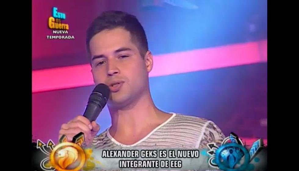 Alexander Geks, ex de Milett Figueroa, es uno de los nuevos integrantes de 'Esto es guerra'. (Captura de TV)
