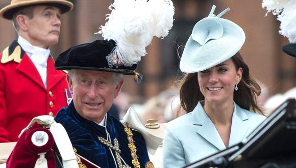 Catalina de Cambridge y Carlos de Gales. (Foto: AFP)