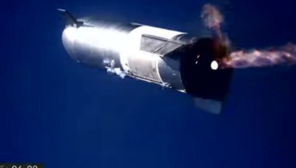 Un prototipo de cohete de SpaceX estalló luego de aterrizar. (Foto: YouTube)