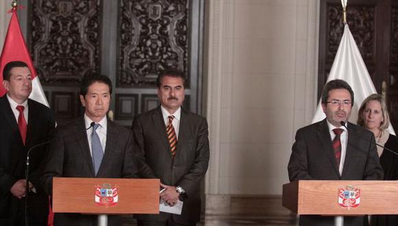 Yoshiyama hizo un balance de la reunión con el premier. (Andina)
