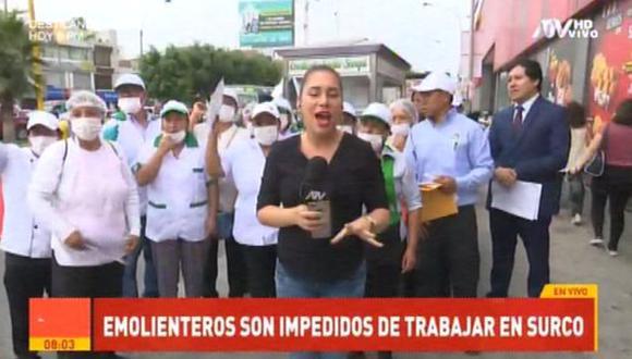 Un grupo de emolienteros denunciaron que la Municipalidad de Surco no les renueva el permiso para que puedan seguir trabajando. (Video: ATV+)