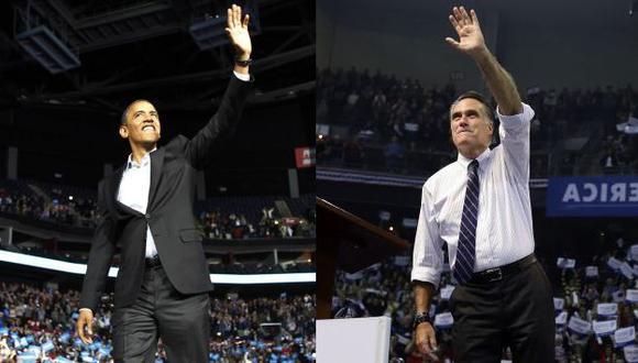 NADA ESTÁ DICHO. Barack Obama y Mitt Romney buscaron votos hasta el último momento en estados clave. (Reuters/AP)