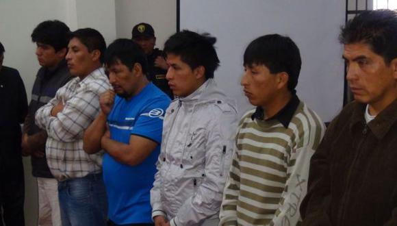 PRESOS DE POR VIDA. Durante el último año la banda de delincuentes causó terror en Huancayo. (Andina)
