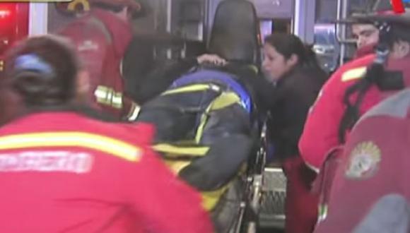 El conductor se dio a la fuga tras ocasionar el accidente.