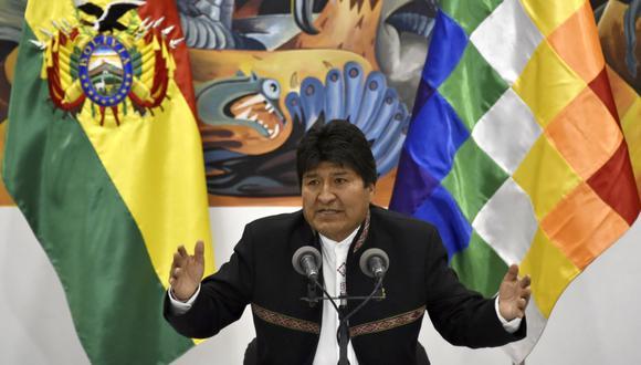 """Evo Morales: """"Ganamos"""" en primera vuelta las elecciones en Bolivia, asegura presidente. (Foto: AFP)"""