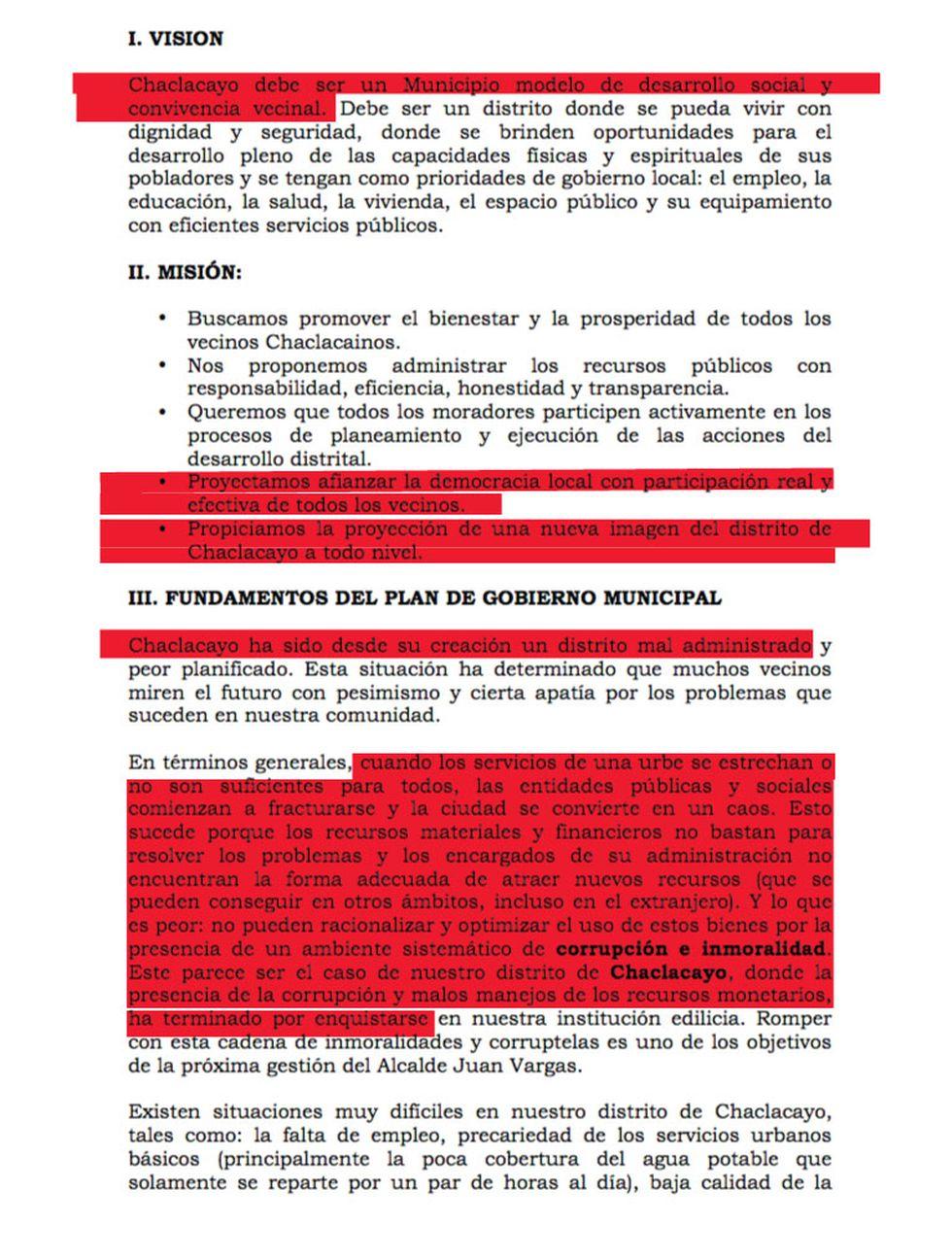 Plan Juan Vargas.
